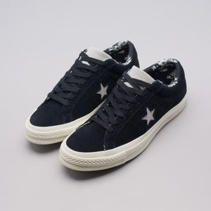 Mens Converse One Star OX Black Mouse Egret 160584